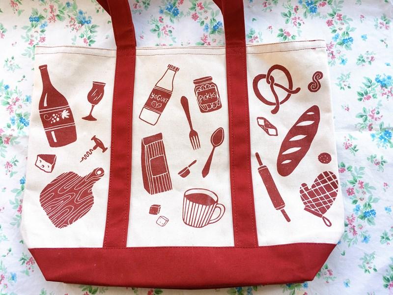 食品福袋のバッグ裏側