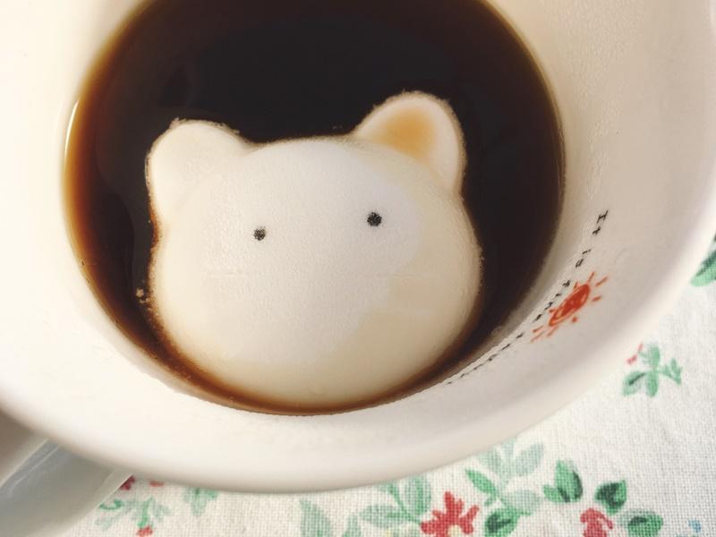 ハロウィンマシュマロ ネコをコーヒーへ